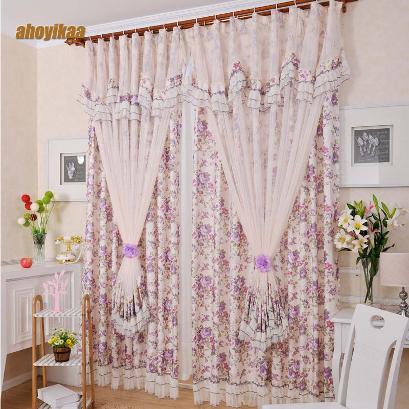 Lace Curtain Beautiful Korean Bud Silk Yarn And A Lot Of ... on Beautiful Bedroom Curtains  id=66364