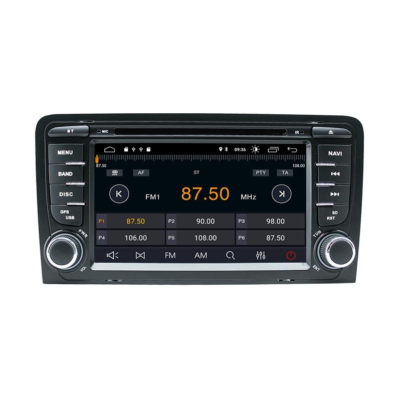 2 Din Android 10 Auto Multimedia-Player AutoRadio Für Audi A3 8P S3 RS3 Sportback 2003 2004 2005 2006 2007 2008 2009 2010 2011