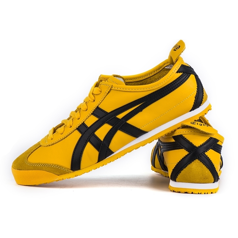 new concept fb3ba fe54f Onitsuka Tiger men's shoes yellow bright MEXICO 66 Rubber ...