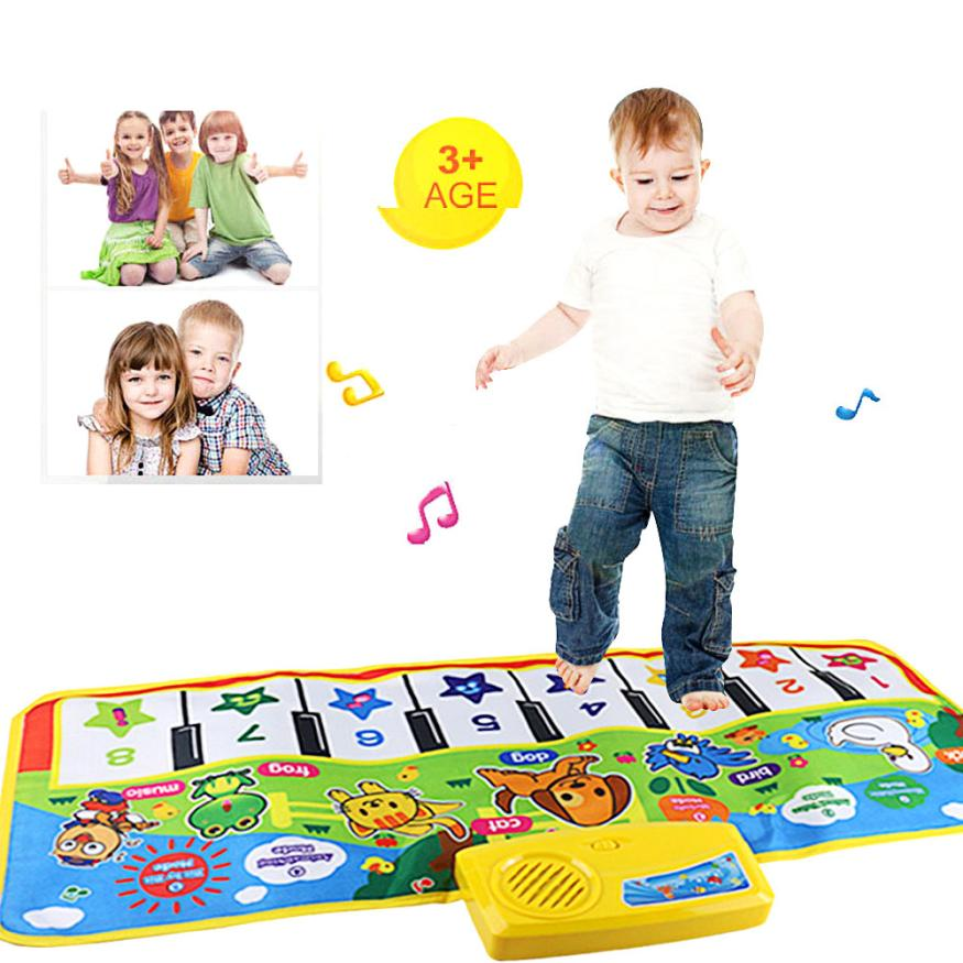 Hot keyboard Touch Play Keyboard Musical Music Instrument Singing Gym Carpet Mat Best Kids Baby Gift musical toys for children все цены