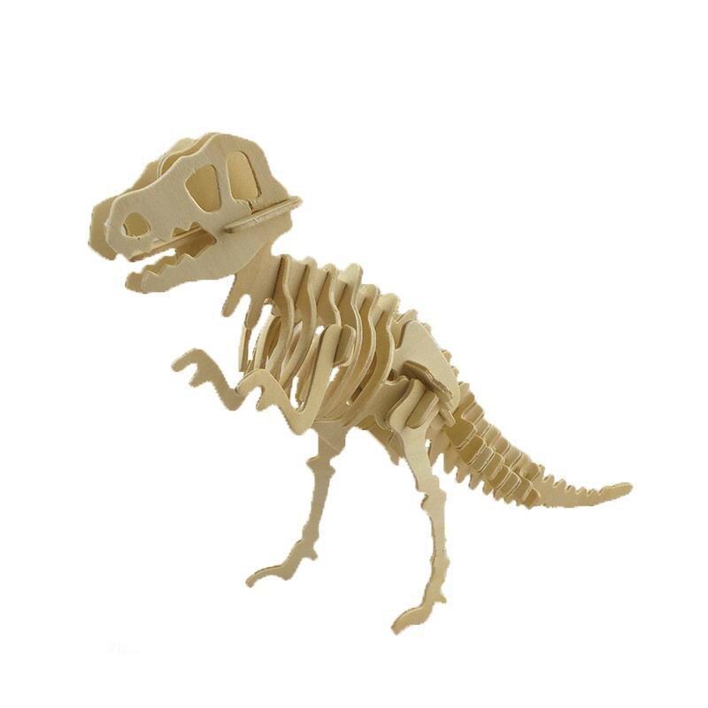 Wood Small Styracosaurus Horned Dinosaur 3D Jigsaw Puzzle DIY Simulation Model Educational Toys Wyvern brontosaurus for Adult