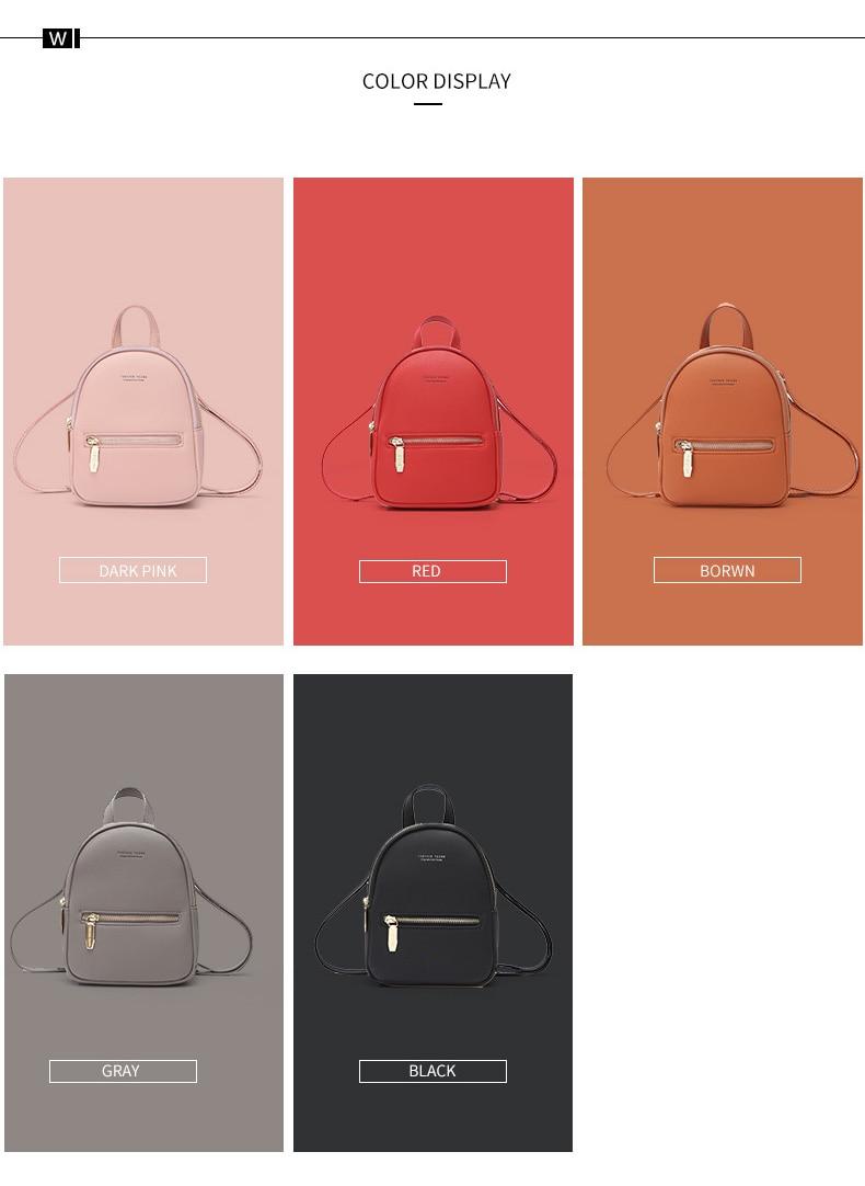 HTB1k1VdKhSYBuNjSsphq6zGvVXaE WEICHEN New Designer Fashion Women Backpack Mini Soft Touch Multi-Function Small Backpack Female Ladies Shoulder Bag Girl Purse