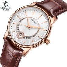 OCHSTIN Fashion Women Watches Ladies Casual Leather Strap Quartz Wrist Watch Female Clock montre femme relojes mujer 2016