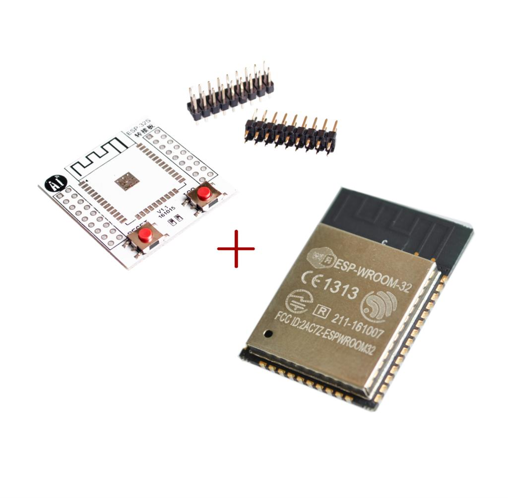 ESP32 ESP-WROOM-32 беспроводного доступа wi-fi, интернет вещей Wlan BLE модуль + ESP-32S плата адаптера
