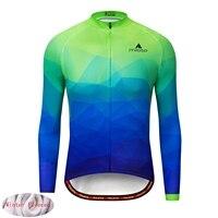 MILOTO 2019 Winter Thermal Fleece Men Cycling Jersey Shirt Bike Jersey Bike Team Warm Long Sleeves Autumn Bicycle Clothing