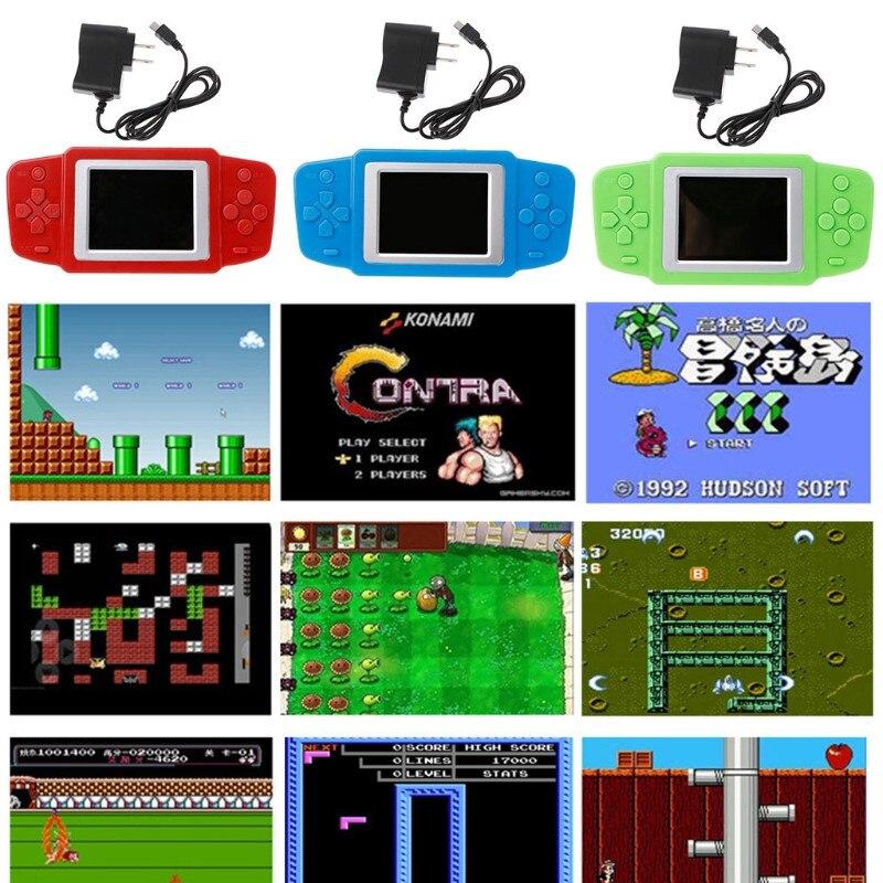 Portable Spielkonsolen Genial 2,5 ultra-dünne Tragbare 8-bit Nes Klassische Farbe Spielkonsole Video Spiel Konsole 268 Griff Kinder Der Unterhaltung Puzzle Videospiele