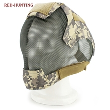 WoSporT Airsoft Mask Full Face War Game Steel Mesh Protective