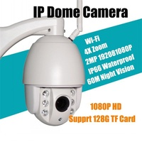 2 0MP PTZ WIFI Ip Outdoor Camera 4X Zoom HD Network CCTV Dome Camera With IR
