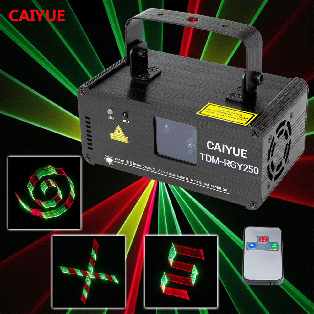 3D DMX512 Effects RGY Red Green Yellow Laser Scanner Projector Full Light DJ Disco Party Xmas Professional Stage Lighting show aucd mini ir remote dmx512 3d effect 250mw rgy laser dpss scanner light pro dj disco party stage lighting show system tdm rgy250