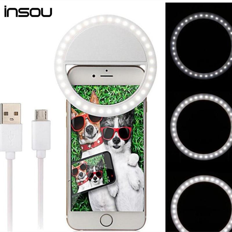 Selfie LED Ring Light for Camera Phone Photography Selfie Ring Light Luminous Ring For iPhone SE