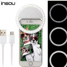 Selfie ПРИВЕЛО Световое Кольцо для Камеры Телефона Фотография Selfie Кольцо Световой кольцо Для iPhone SE 5 6 6 S Plus для LG для Samsung