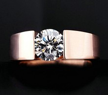 Engagement Ring Simulated Diamond Wedding Jewellery For Man & Women