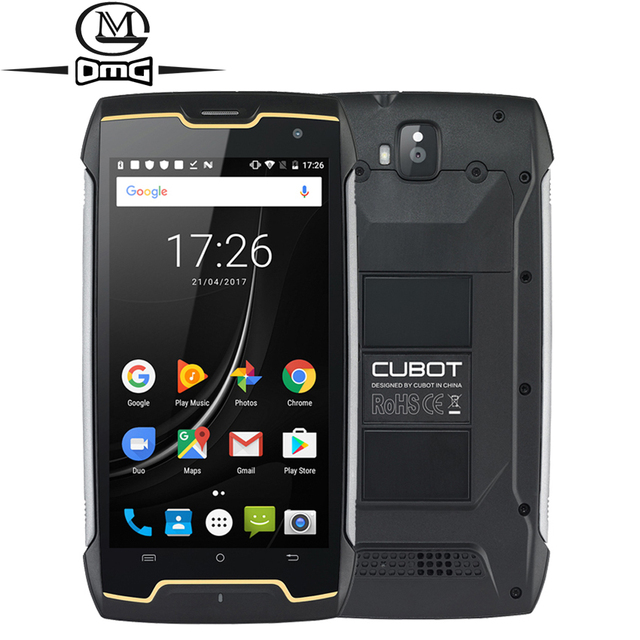 """Cubot Kingkong IP68 Waterproof shockproof mobile phone 5.0"""" MT6580 Quad Core Android 7.0 Smartphone 2GB RAM 16GB ROM Cell Phone"""