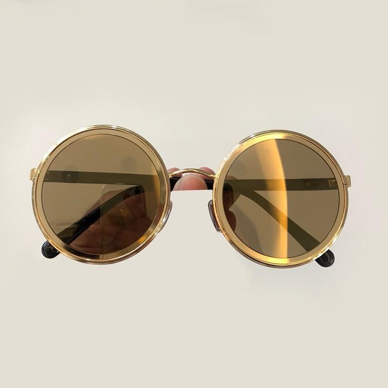 Women s Vintage Round Sunglasses 2019 Brand Designer High Quality Oculos De Sol Feminino Fashion Sun