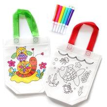 Случайный 1 шт Дети diy Рисование ремесло цветная сумка Обучающие