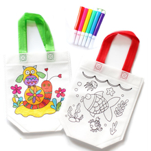 Купить с кэшбэком Random 1 pc Kids DIY Drawing Craft Color Bag Children Learning Educational Drawing Toys with Safe Watercolor pen for Baby Gifts