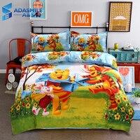 Disney Bear Kids Bedding Sets Cartoon Duvet Cover Quilt Cover Pillowcase 4pcs Children Mr Sanders Bedclothes Bed Linen Set