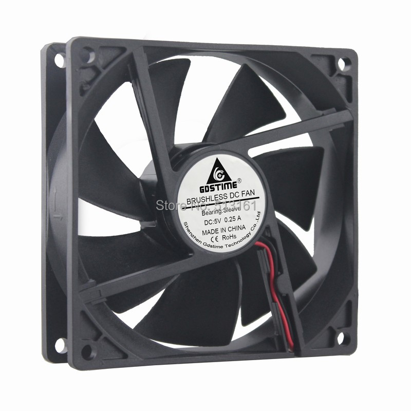 2 PCS Gdstime 92mm 5V USB 92x92x25mm Brushless DC Cooler PC Computer Cooling Fan in Fans Cooling from Computer Office
