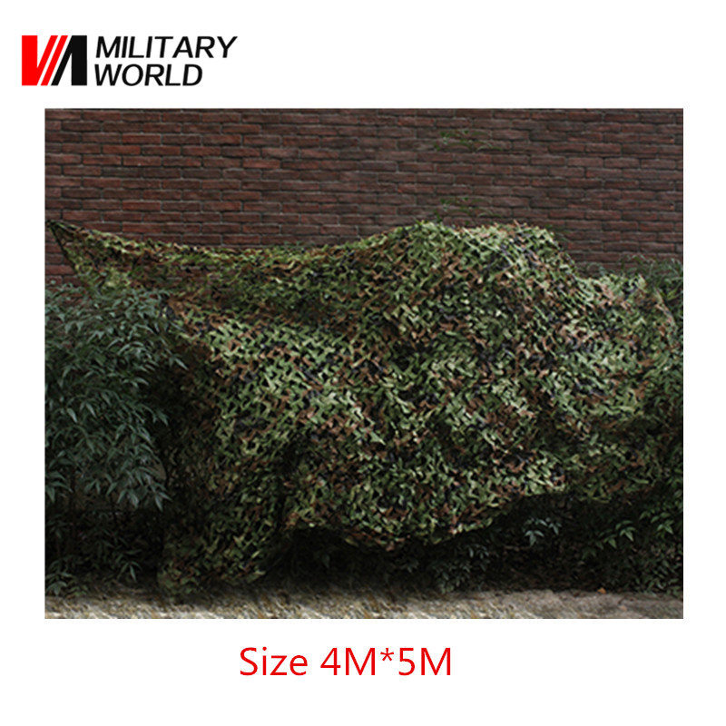 4mx5m Airsoft Military Camouflage Net Woodlands Leaves Camo For Hunting Camping Paintball Tactical Outdoor Net Cover Accessory 51783 camo shooter jacket and pants mens python grain military hunting paintball camping airsoft paintball tactical sports set