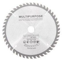 Новое поступление 165 мм 48 зубьев дисковая пила из вольфрамовой стали для деревообработки
