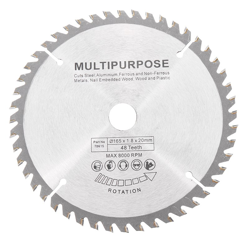 New Arrival 165mm 48 Teeth Circular Saw Blade Tungsten Steel Saw Blade for Woodworking Cutting 6 60 teeth 140mm carbide saw blade for cutting polycarbonate plexiglass perspex acrylic professional 15 degree ab teeth