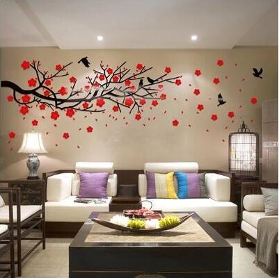 2017 3D tiga dimensi stiker dinding TV dinding sofa latar belakang - Dekorasi rumah - Foto 2