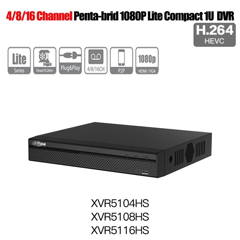 Dahua English XVR digital video recorder XVR5104HS XVR5108HS XVR5116HS 4ch 8ch 16ch 1080P Support HDCVI/ AHD/TVI/CVBS/IP Camera dahua xvr video recorder xvr5408l xvr5416l xvr5432l 8ch 16ch 32ch 1080p support hdcvi ahd tvi cvbs ip video inputs