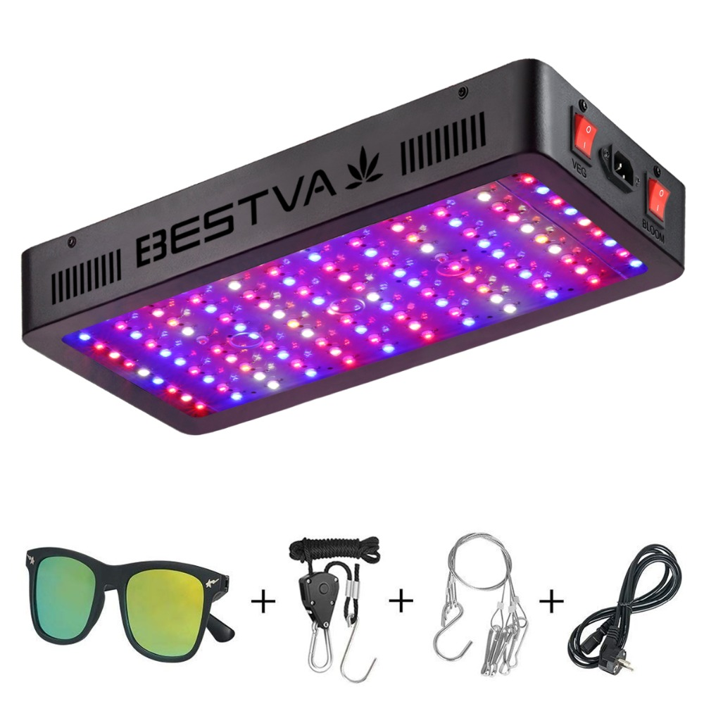 BestVA led grow light full spectrum 1200W dual Switches Veg Bloom modes for Indoor plants greenhouse