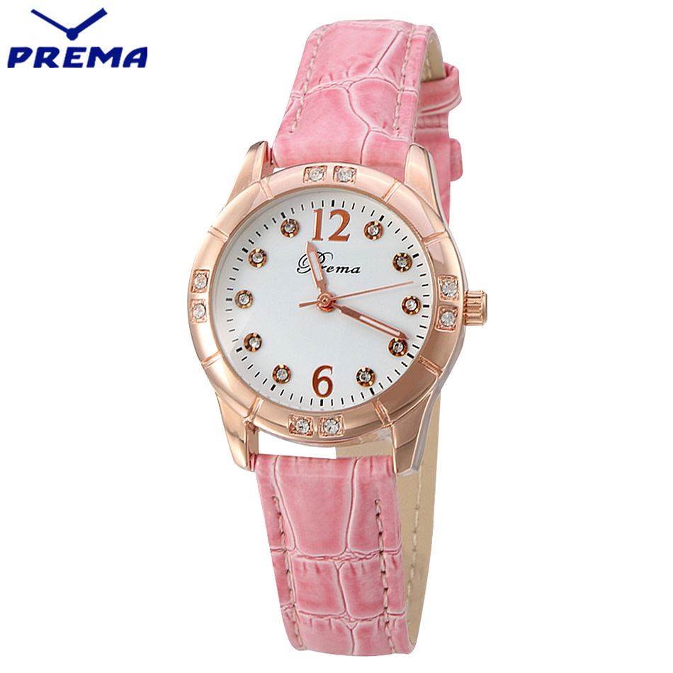 ladies watch prema montre femme marque de luxe joker fashion style leather belts waterproof. Black Bedroom Furniture Sets. Home Design Ideas