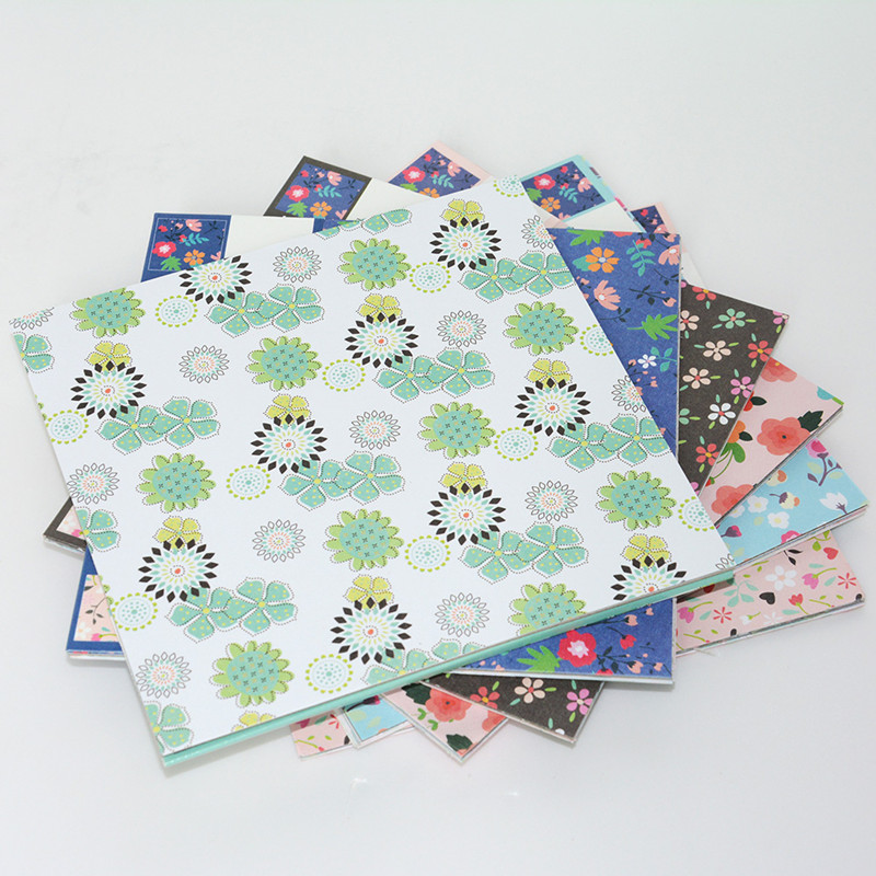 15 x15 cm floral origami paper diy printing paper kindergarten paper cut embossed papercranes. Black Bedroom Furniture Sets. Home Design Ideas