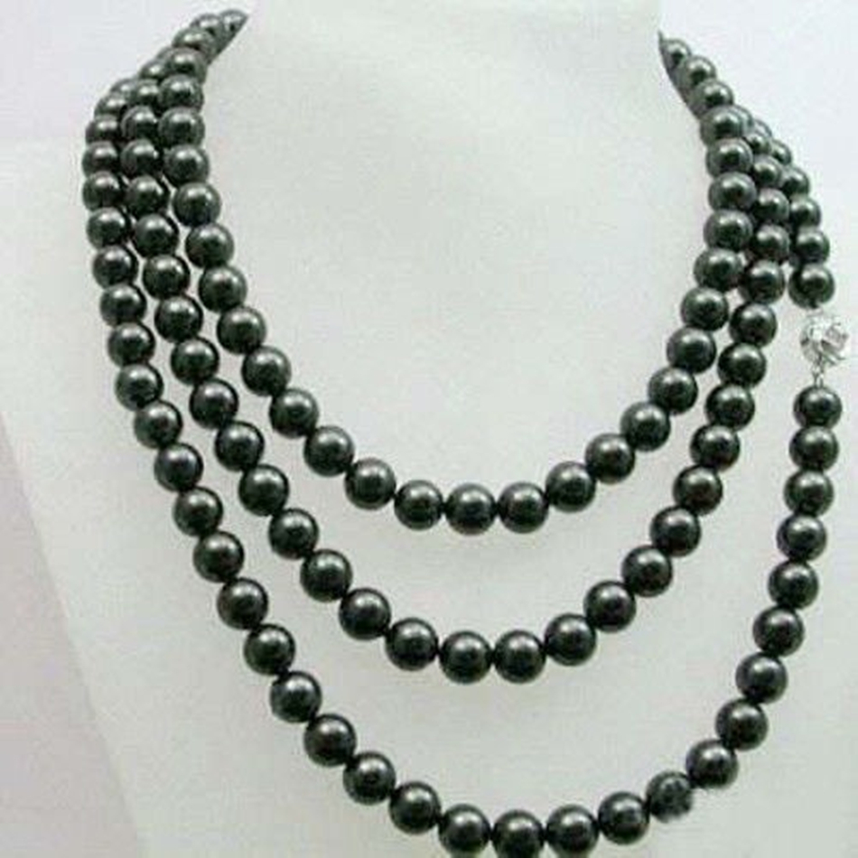 8-9 natural black freshwater cultured pearl beads necklace round diy jewelry new fashion high quality weddings party 48inchBV414 цена и фото