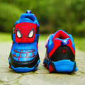 Nova outono e primavera crianças sapatos Spiderman noite do Flash tênis esportivos luz sapatos para crianças dos miúdos de sapatos meninos meninas F72