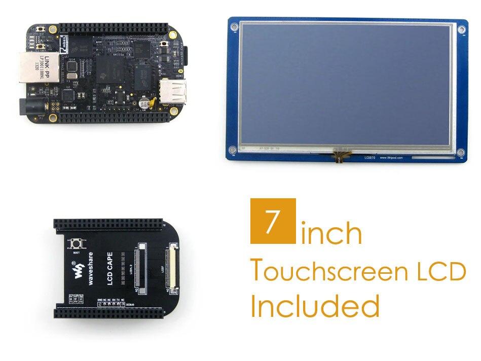BB Noir (BeagleBone Noir) paquet D ARM Cortex A8 1 GHz 512 MB DDR3 Soutien Linux + LCD Cape + 7 pouces Tactile Résistif LCD