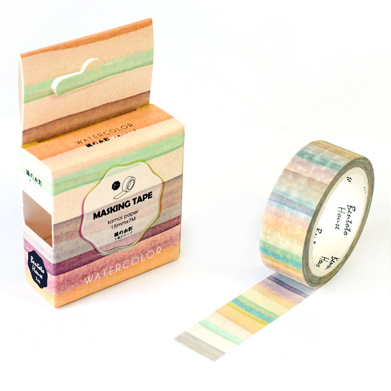 Watercolor Painting Washi Tape Adhesive Tape Diy Decor Planner Scrapbook Sticker Label Masking Tape