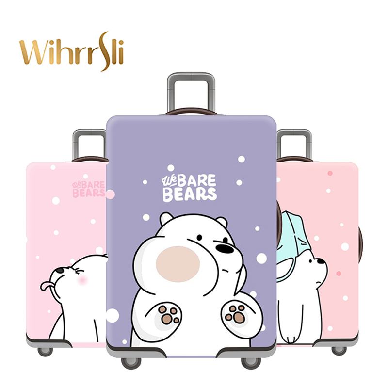 Cute Bear Suitcase Cover Travel Accessories Case Set Luggage Cover Dust Cover Trolley Protection Cover Elasticity Box Sets