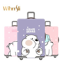 Cute bear suitcase cover travel accessories Case set luggage cover dust cover Trolley protection cover elasticity Box sets(China)