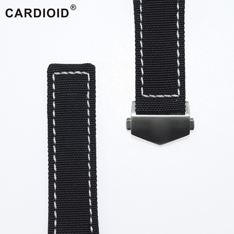 Classic 22mm Cow Leather Knit WatchStrap For TAG HEUER Series Men Quality Band Soft Thick WatchBand For TAG HEUER Wrist Bracelet in Watchbands from Watches