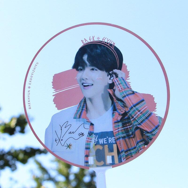 [MYKPOP]EXO BAEKHYUN Mimi Fan Transparent Fan K-POP Fan Cute Gift SA18032921