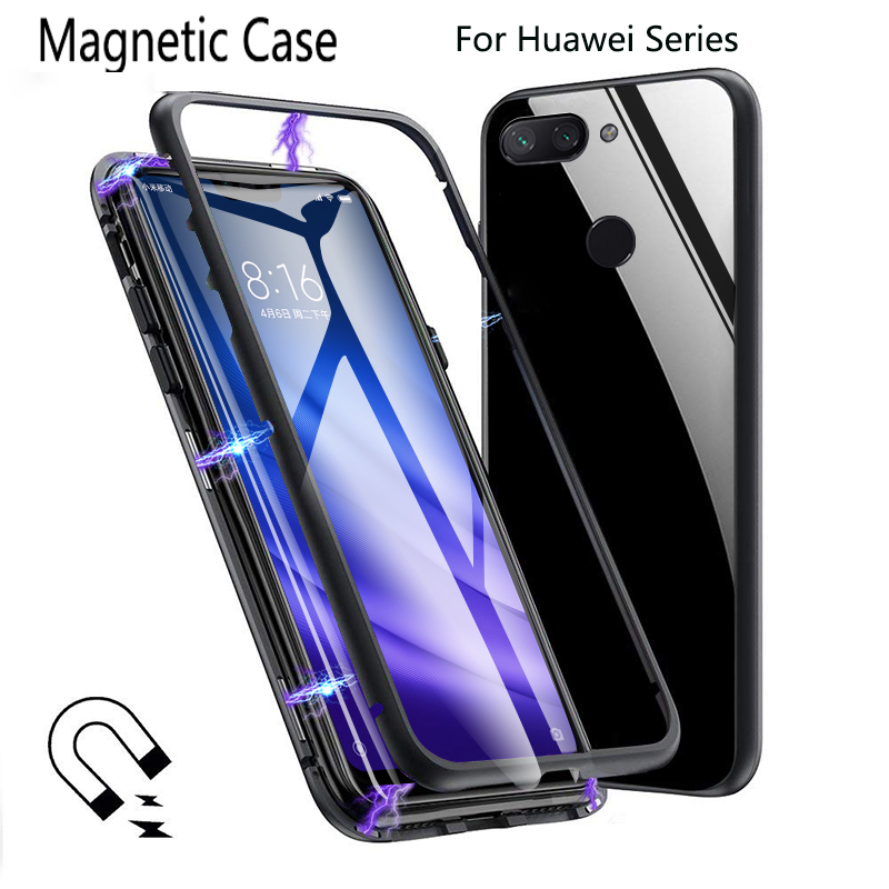 Aggressiv Metall Magnetische Fall Für Huawei P30 Pro Fall Magnetische Adsorption Glas Abdeckung Für Huawei Mate 20 Pro V20 P20 Pro Nova4 8x Max Fall