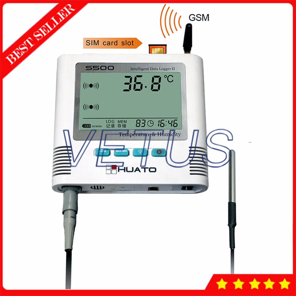 S500-ET-GSM USB GSM Temperature Data Logger Datalogger with 0.5C Accuracy 6,5000 Record Capacity 3 meters cable external Sensor new usb temp temperature humidity datalogger data logger record meter 40 70c