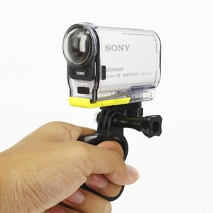 Image 4 - Self Ring Monopod Knuckles Fingers Grip with Holder Mount for sony action cam AS100V AS200V AS30V X1000V AEE Surf Accessories