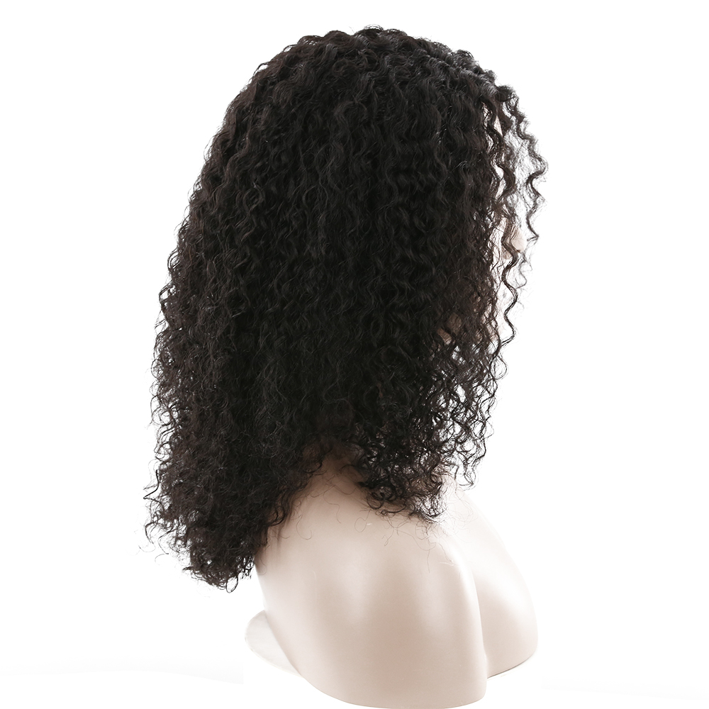 X-TRESS 18 U Part Lace Wigs For Women Brazilian Afro Kinky Curly Human Hair Lace Wigs Natural Black 1B# Omber Blonde Remy Hair