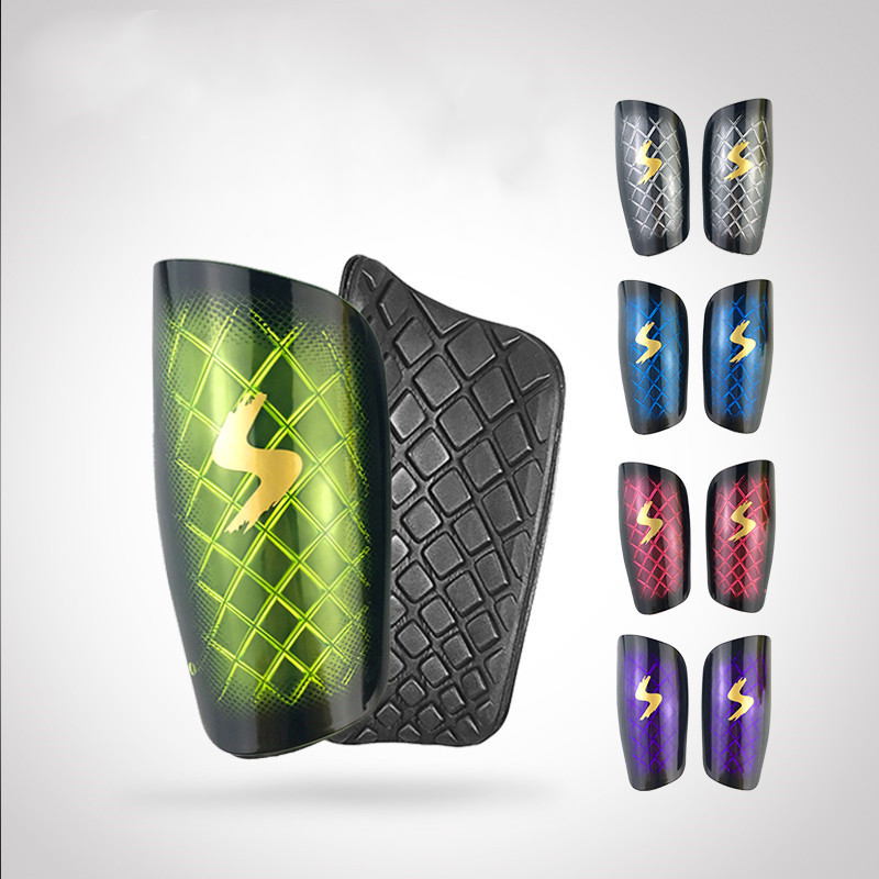 1 Pair Football Soccer Shin Guard Diamond Pattern Transparent Shin Pads Leg Sleeves Calf Brace Sport Safety Protector for Adults