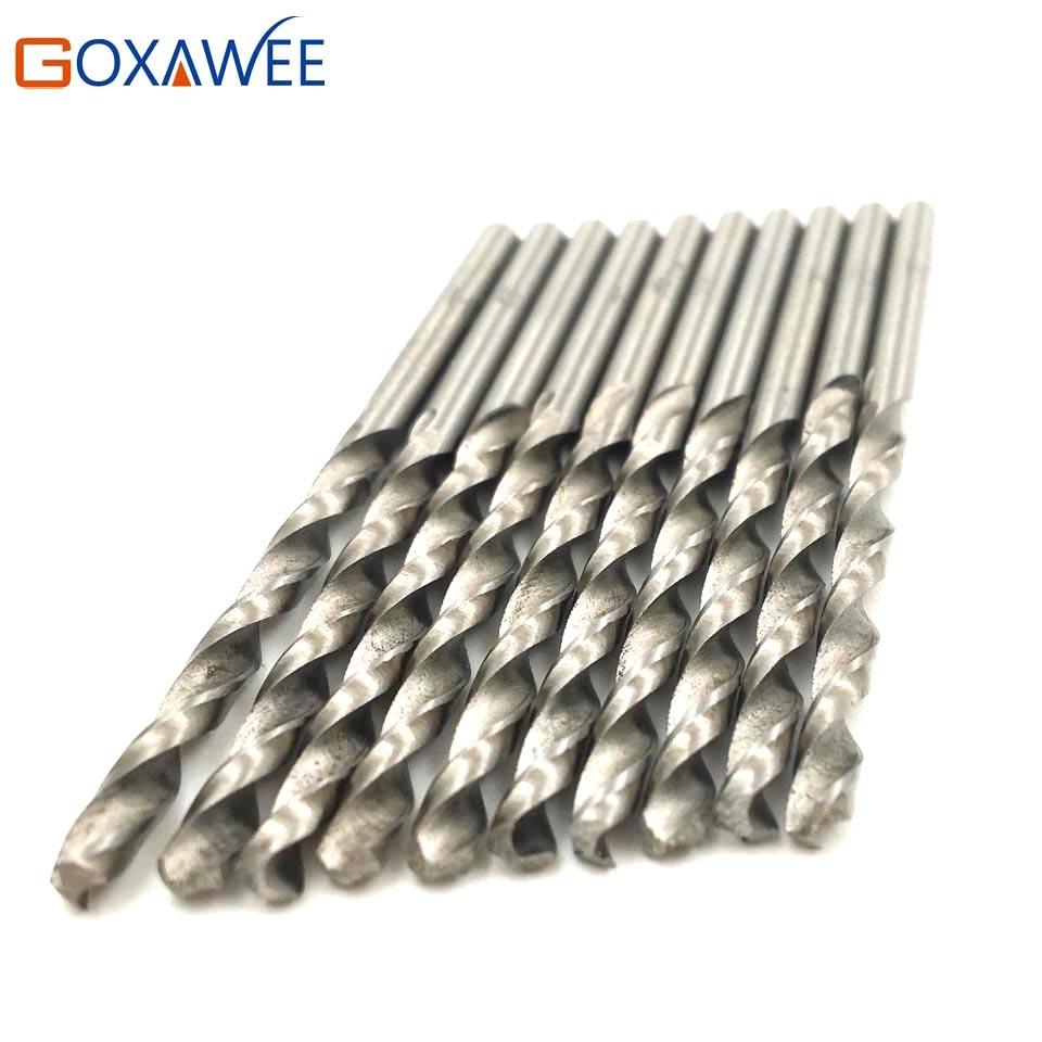 GOXAWEE 10pcs Twist Drill Bits 6mm Straight Shank HSS Drill Bits High Carbon Steel Wood Drills Metal Plastic Power Tool goxawee 10pcs micro hss drill bits 0 5 0 6 0 7 0 8 1 0 1 2 1 5 2 0 2 5 3mm straight twist drill bits electric drill power tools