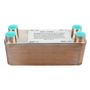 Image 2 - 30 Plates Wort Heat Exchanger Stainless Steel Wort Chiller,Brewing Cooling Counterflow Clooler For Homebrew Beer Tools 1/2NPT