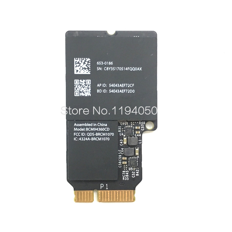 Broadcom BCM94360CD 802.11ac mini PCI-E WiFi WLAN Bluetooth 4.0 carte 1300Mbps 4360CD