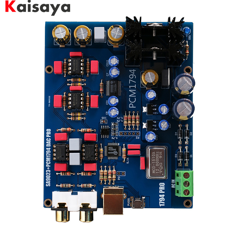 SA9023+PCM1794 DAC Decoder board USB DAC sound card 5V dac decoding finished board B8 004