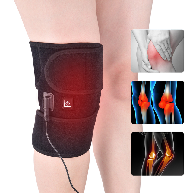 Knee Support Brace Ice Pack Straps Infrared Heated Knee Massager Wrap Cold Therapy for Pain Injuries Ankle Arthritis Pain Relief