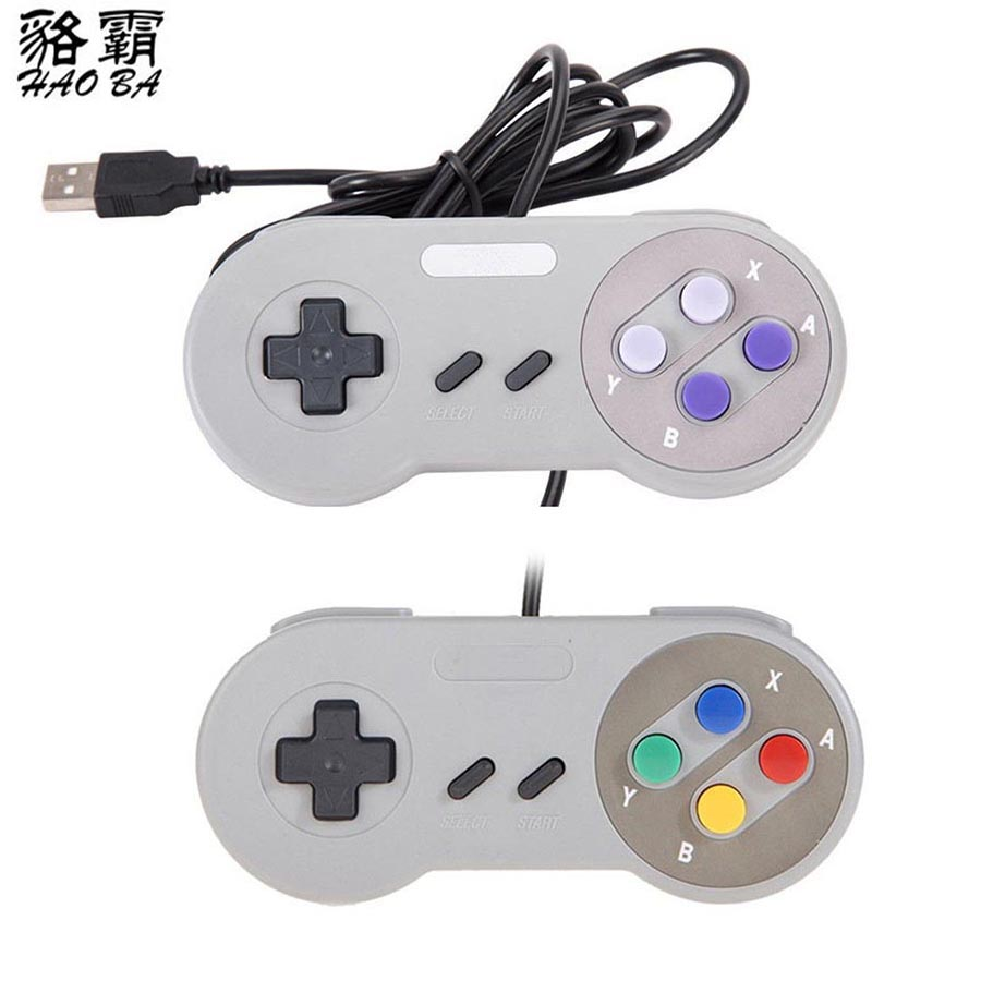 HAOBA 2PCS/LOT Retro Classic usb Controller PC Controllers Gamepad Joystick Replacement for android Super  for S NES Windows
