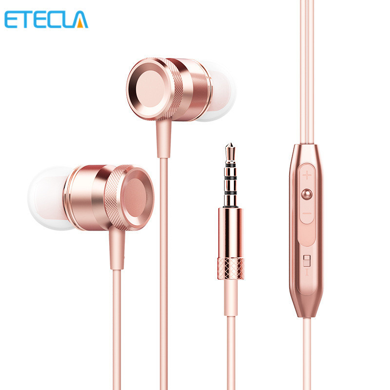 Mini Metal Sport Stereo Music 3.5mm Earphone Headfone For Iphone Xiaomi Huawei Mp3 Ear Phone Dj Bicycle Hifi With Mic Microphone